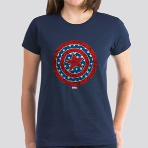 Stars and Stripes Captain Ame Women's Dark T-Shirt