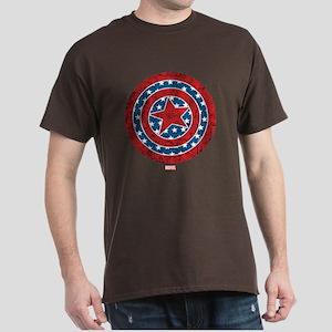 Stars and Stripes Captain America Dark T-Shirt
