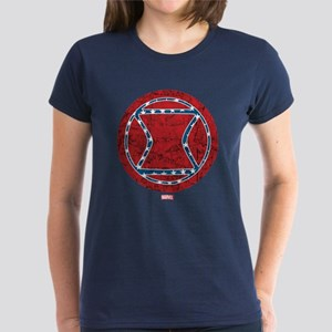 Stars and Stripes Black Widow Women's Dark T-Shirt