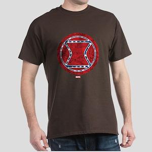 Stars and Stripes Black Widow Dark T-Shirt