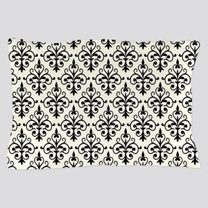 White & Black Damask 41 Pillow Case