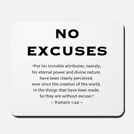 No Excuses - Mousepad