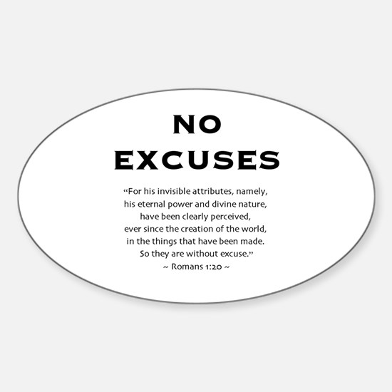 No Excuses - Oval Decal