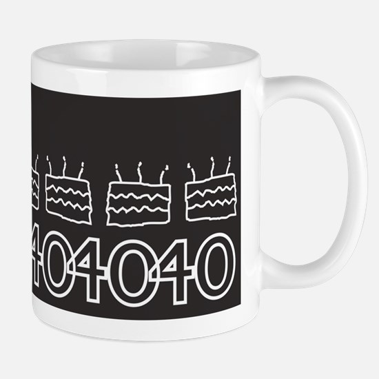Personalized Black 40th Birthday Mugs