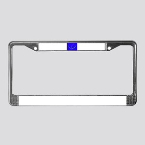 Bow and Arrow Solid Blue License Plate Frame