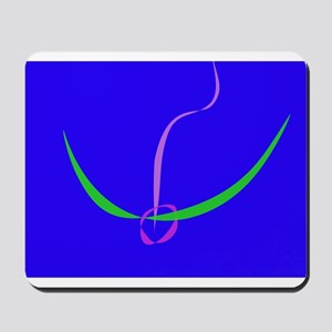 Bow and Arrow Solid Blue Mousepad
