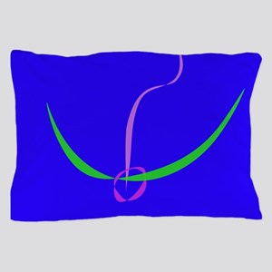 Bow and Arrow Solid Blue Pillow Case