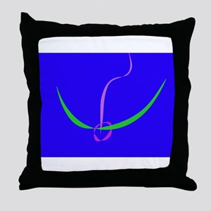 Bow and Arrow Solid Blue Throw Pillow