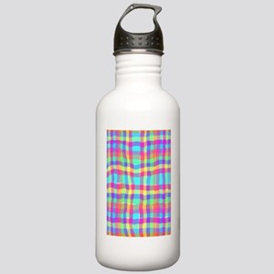 Wiggly Plaid Stainless Water Bottle 1.0L