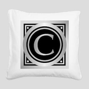 Deco Monogram C Square Canvas Pillow
