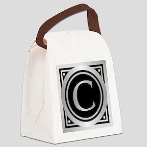 Deco Monogram C Canvas Lunch Bag