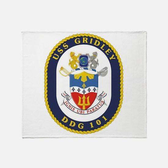 DDG 101 USS Gridley Throw Blanket