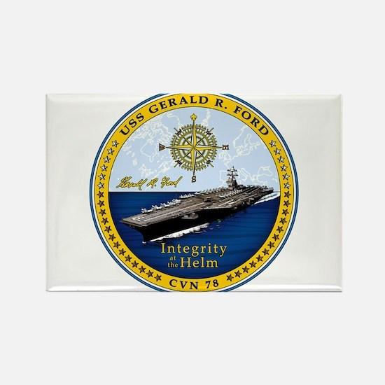 USS Gerald R. Ford CVN-78 Rectangle Magnet