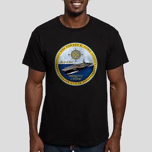 USS Gerald R. Ford CVN Men's Fitted T-Shirt (dark)