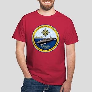 USS Gerald R. Ford CVN-78 Dark T-Shirt