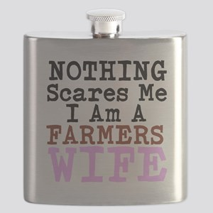 Nothing Scares Me I am a Farmers Wife Flask