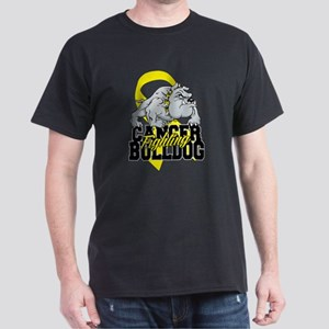 Bladder Cancer Bulldog Dark T-Shirt
