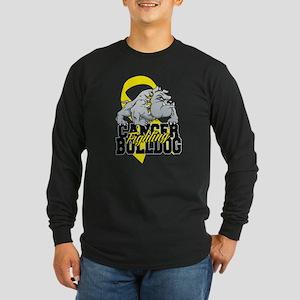 Bladder Cancer Bulldog Long Sleeve Dark T-Shirt