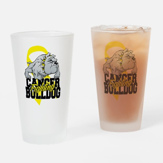 Bladder Cancer Bulldog Drinking Glass