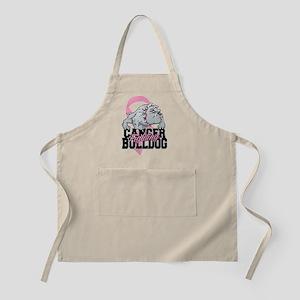 Breast Cancer Bulldog Apron