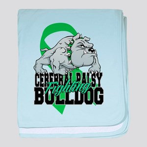 Cerebral Palsy Bulldog baby blanket