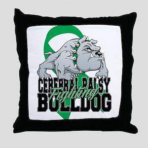 Cerebral Palsy Bulldog Throw Pillow