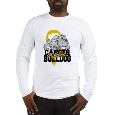 Childhood Cancer Bulldog Long Sleeve T-Shirt