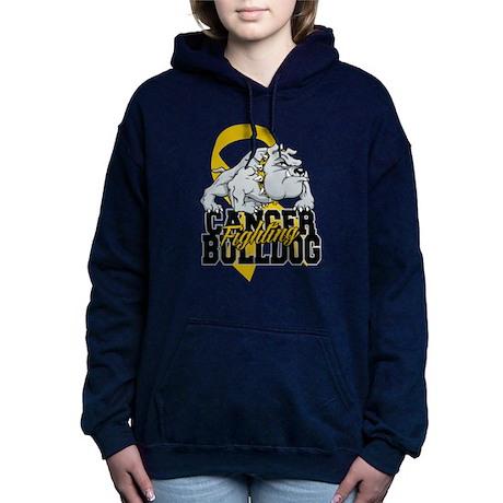 Childhood Cancer Bulldog Women's Hooded Sweatshirt