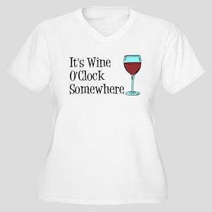 Wine OClock Somewhere Plus Size T-Shirt