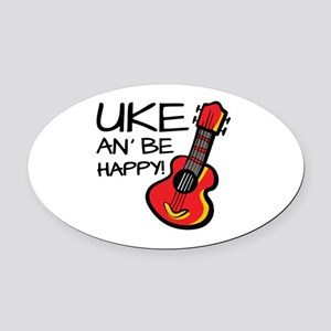 Ukulele Oval Car Magnet