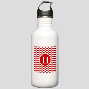 Any Letter, Red and Wh Stainless Water Bottle 1.0L
