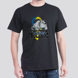 Down Syndrome Fighting Bulldog Dark T-Shirt