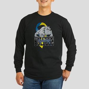 Down Syndrome Fighting Bu Long Sleeve Dark T-Shirt