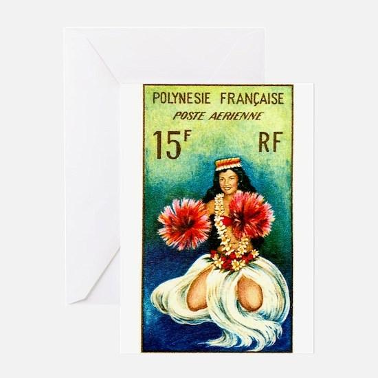 1964 French Polynesia Tahitian Dancer Stamp Greeti
