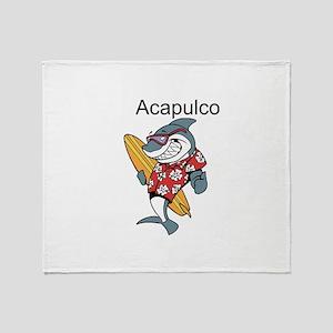 Acapulco, Mexico Throw Blanket