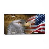 Patriotic License Plates