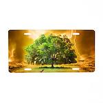 Tree Of Life Aluminum License Plate