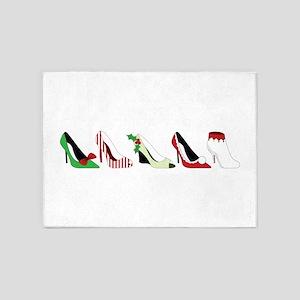 Christmas Shoes 5'x7'Area Rug
