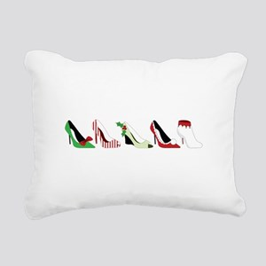 Christmas Shoes Rectangular Canvas Pillow