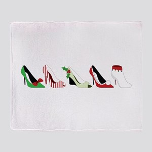 Christmas Shoes Throw Blanket