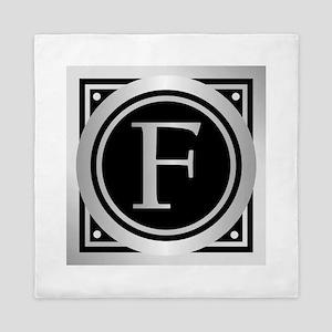 Deco Monogram F Queen Duvet