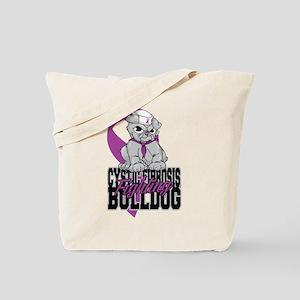 Cystic Fibrosis Bulldog Pup Tote Bag