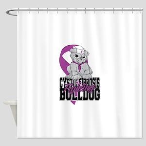Cystic Fibrosis Bulldog Pup Shower Curtain