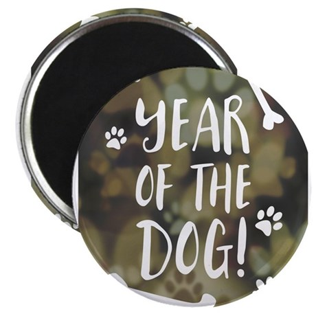 year of the dog bokeh Magnets