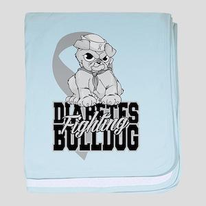 Diabetes Bulldog Pup baby blanket