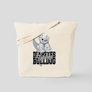 Diabetes Bulldog Pup Tote Bag