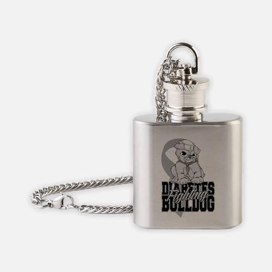 Diabetes Bulldog Pup Flask Necklace