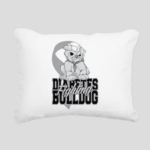 Diabetes Bulldog Pup Rectangular Canvas Pillow