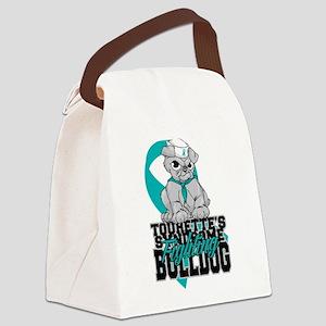 Tourette's Syndrome Bulldog Pup Canvas Lunch Bag