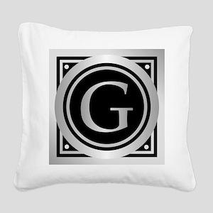 Deco Monogram G Square Canvas Pillow
